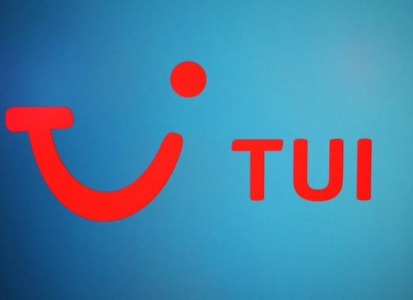 The TUI logo is displayed on a computer screen in London, Britain, October 17, 2017. REUTERS/Hannah McKay